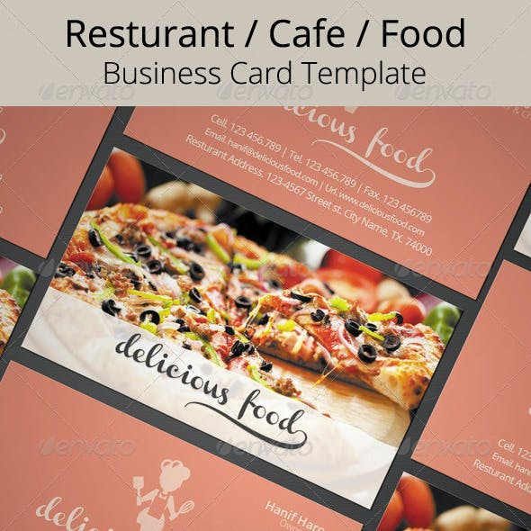 Delicious Food Business Card