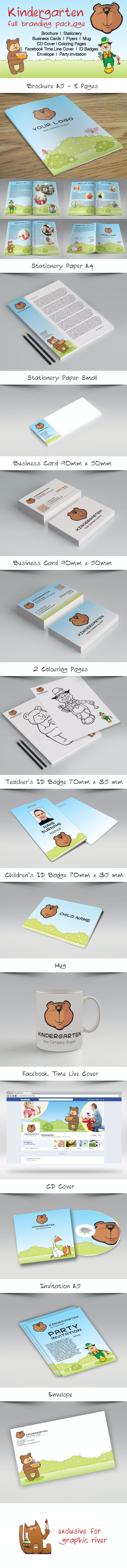 Kindergarten Full Branding Package - Corporate Brochures