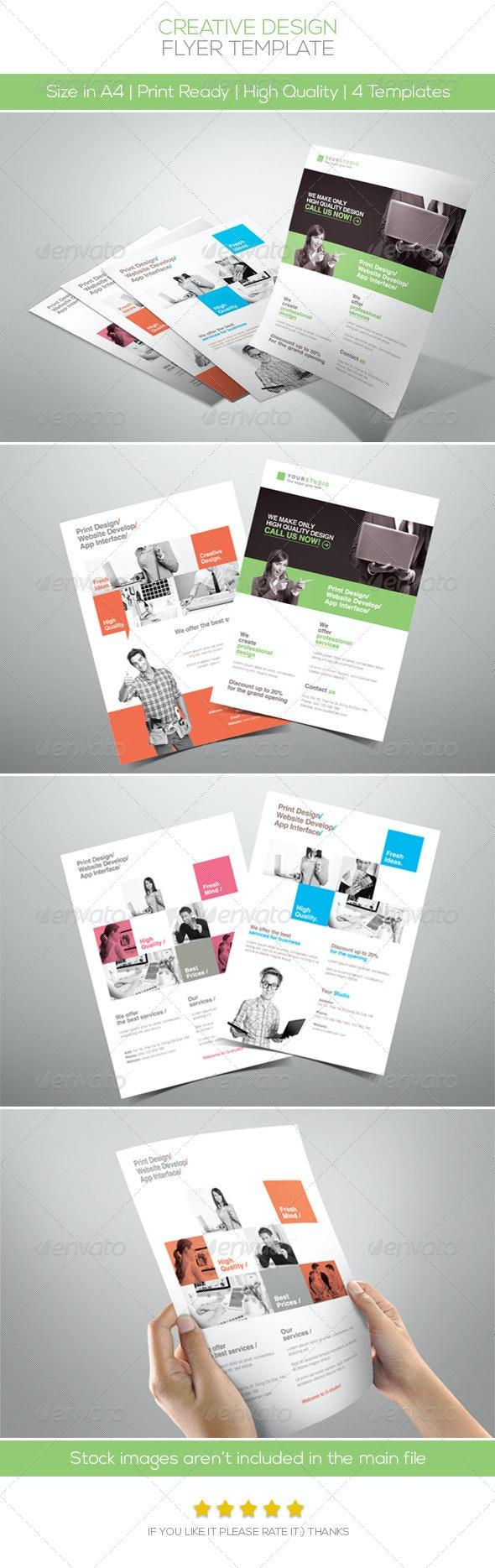 Creative Design Company Flyer - Corporate Flyers