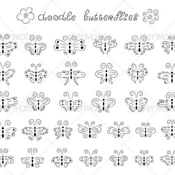 Doodle Butterflies