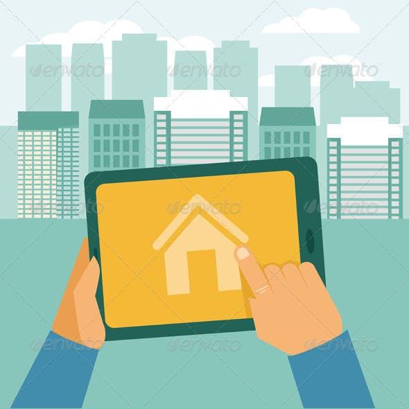 Vector Real Estate Concept