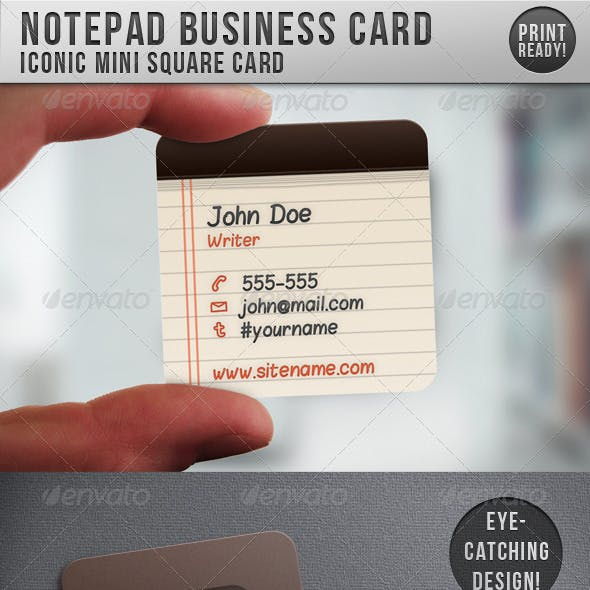 Notepad Iconic Business Card