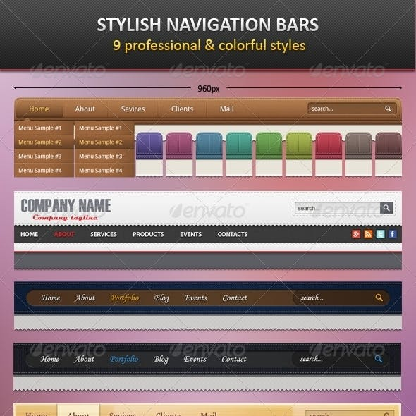 9 Stylish Navigation Bars