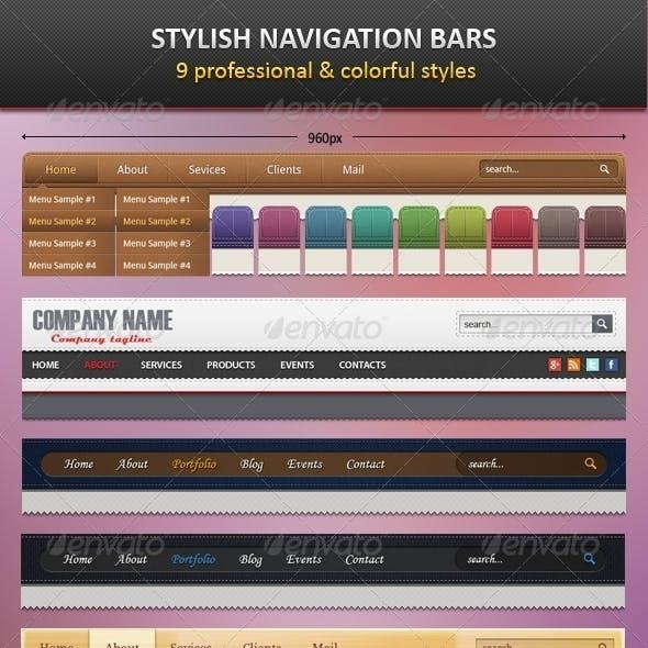 9 Stylish Navigation Bars
