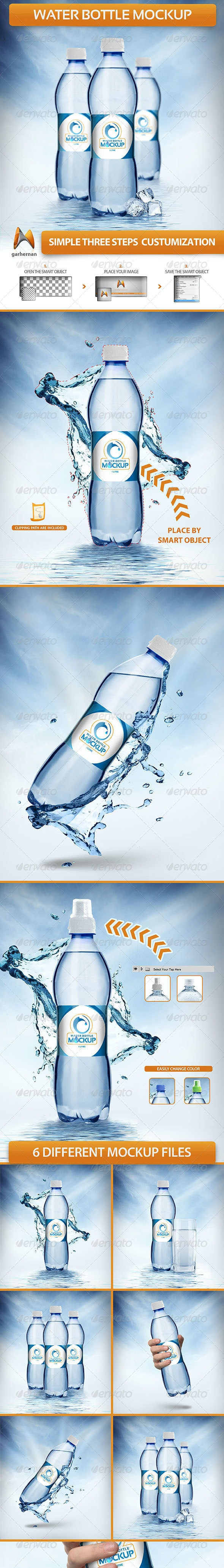 Water Bottle Mockup - Food and Drink Packaging