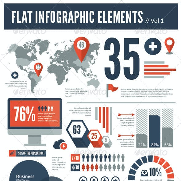 Flat Vector Infographic Elements