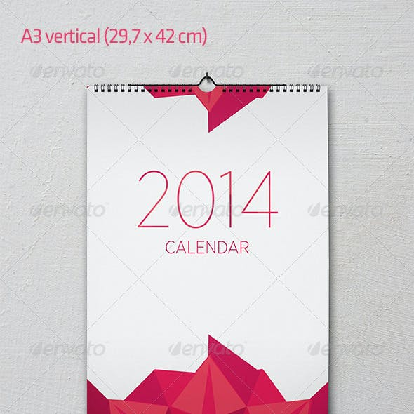 Wall calendar mock-up set