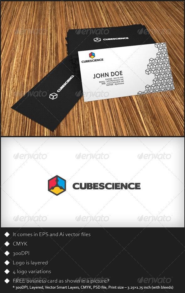 Cube Science Logo Template - Symbols Logo Templates