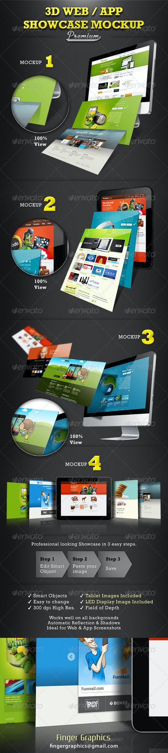 Web / App Showcase Mockup - Website Displays