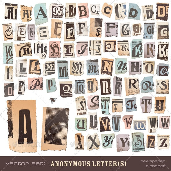 Anonymous Letter(s) - upper cases - Decorative Symbols Decorative