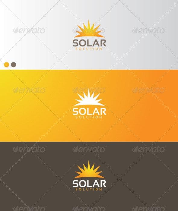 Solar Solution - Symbols Logo Templates