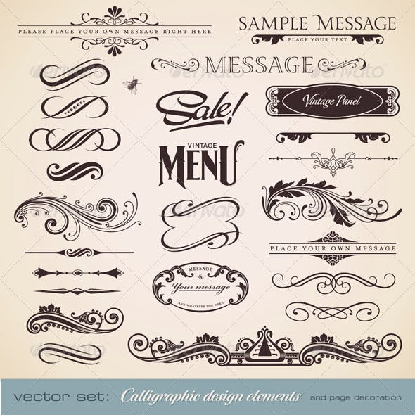 Calligraphic Design Elements and Page Decoration 3