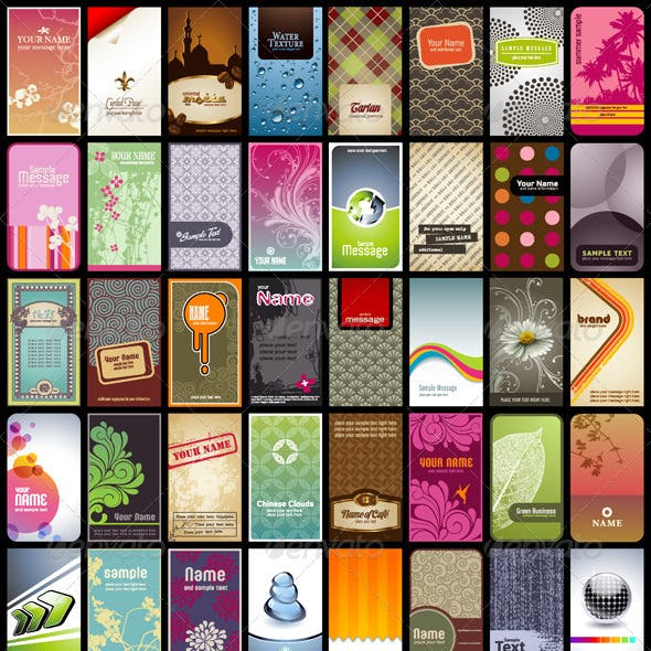 40 Vertical Business Cards Or Backgrounds