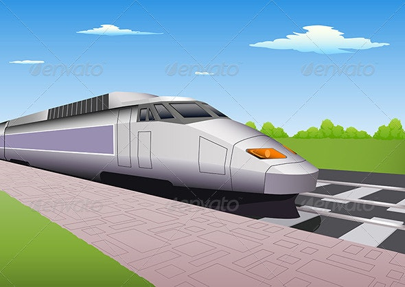 High speed train  - Travel Conceptual
