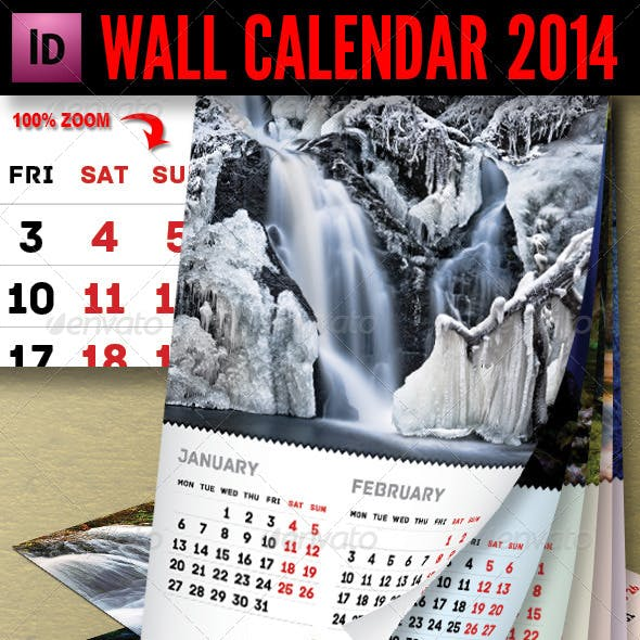 Wall Calendar 2014 - 7 pages A3
