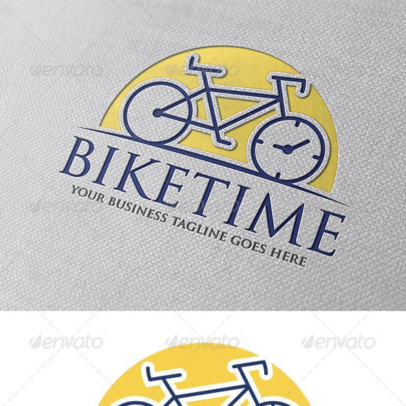 Bike Time Logo Template