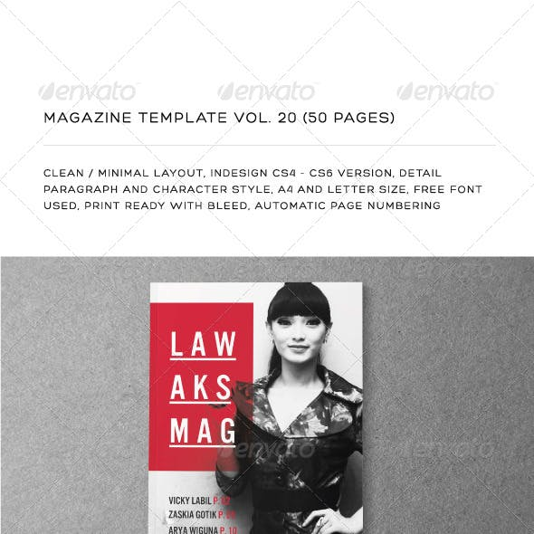 A4/Letter 50 Pages Mgz (Vol. 20)
