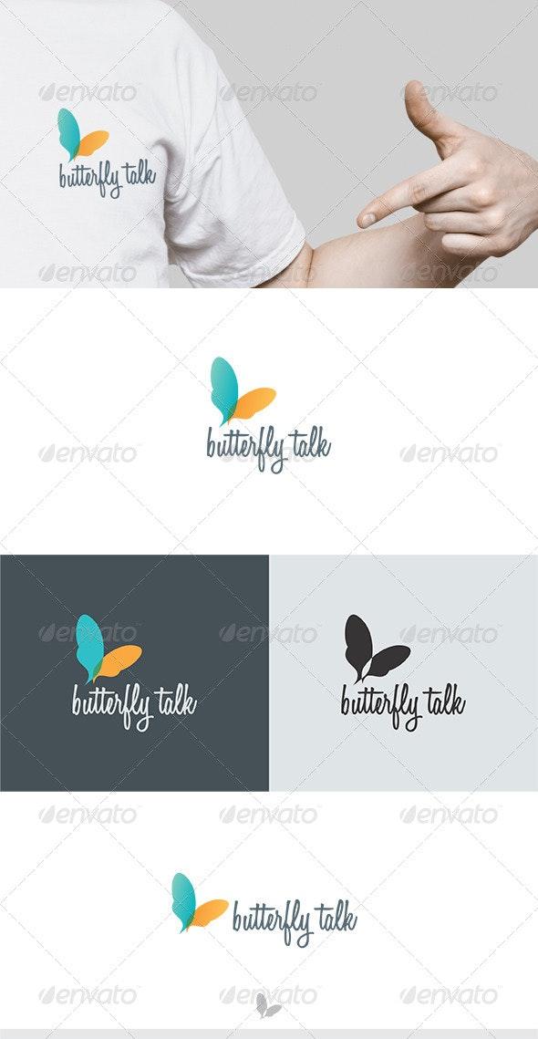 Butterfly Talk Logo - Vector Abstract
