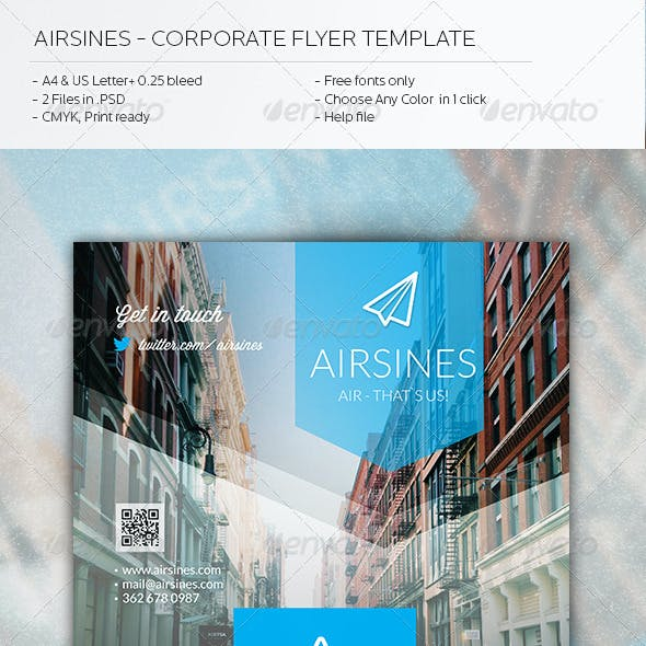 Airsines -Corporate Flyer Template