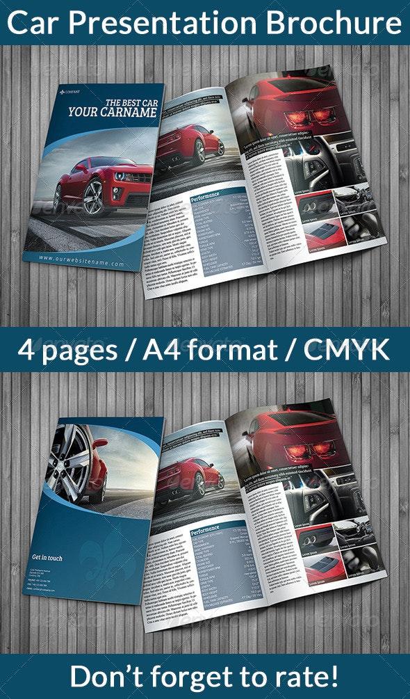 Car Presentation Brochure - Print Templates