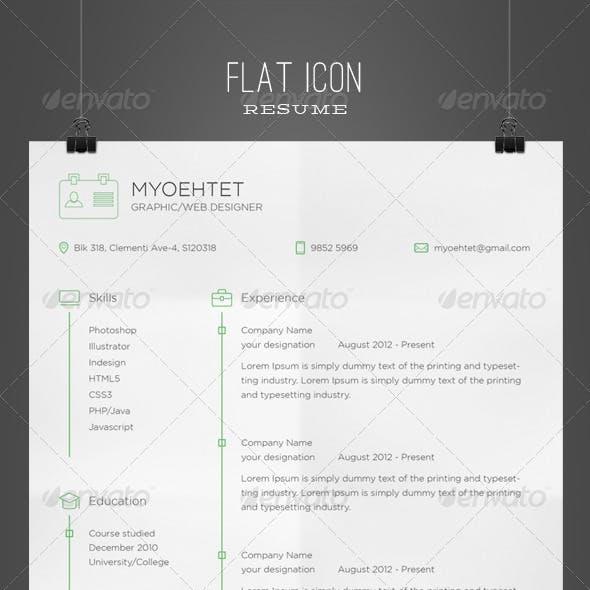 Flat Icon Resume
