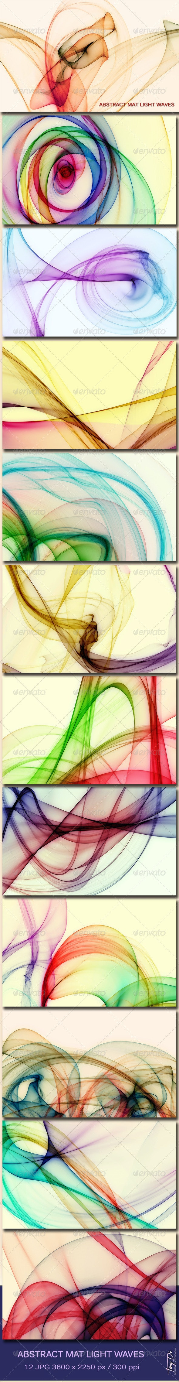 Abstract Mat Light Waves - Abstract Backgrounds