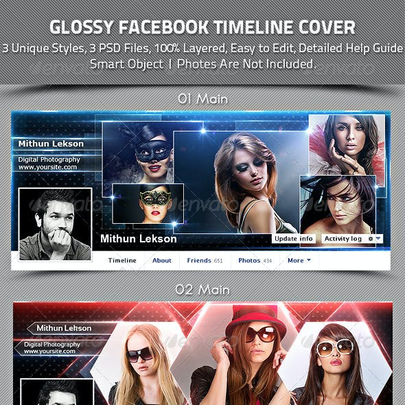 Glossy Facebook Timeline Cover