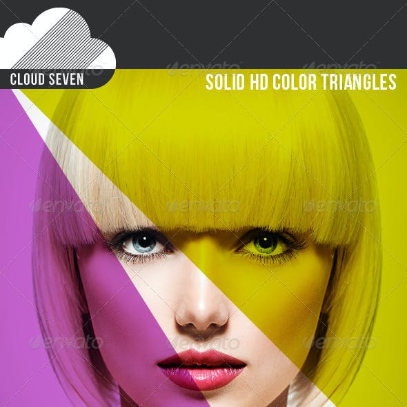 Solid HD Color Triangles Template