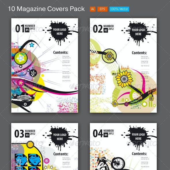 10 Magazine Covers Pack