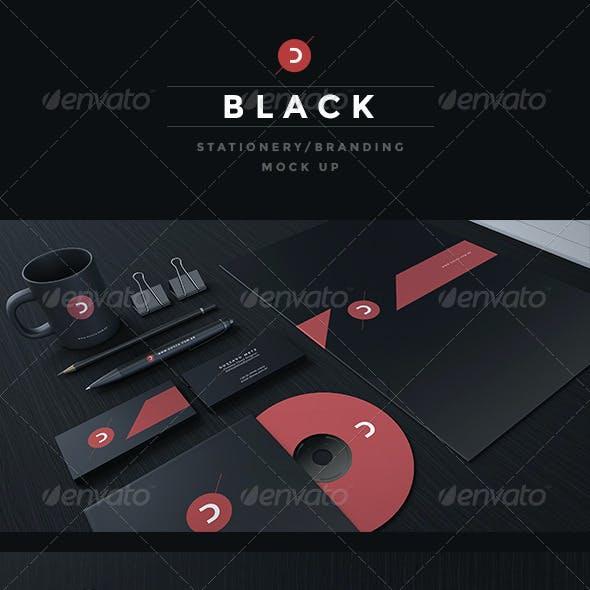 Black Stationery / Branding Mock-Up