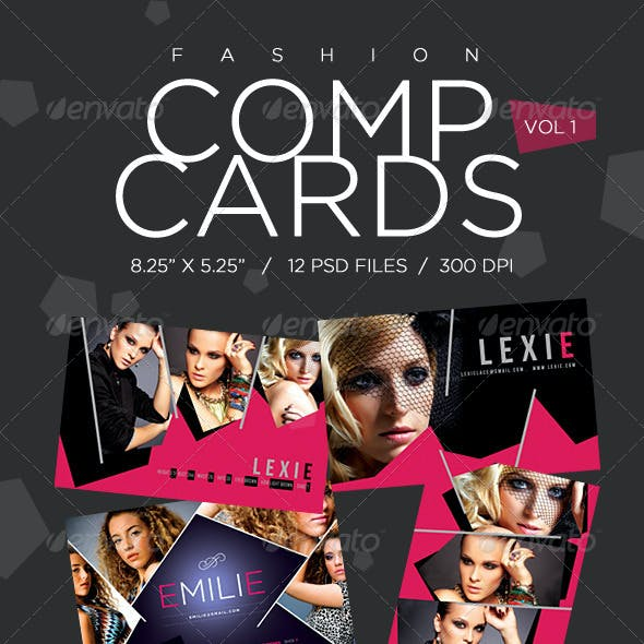 Model Comp Card Template Kit Vol1