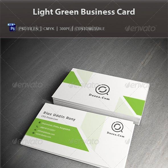 Light Green Business Card