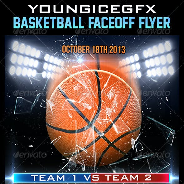 Basketball FaceOff Flyer