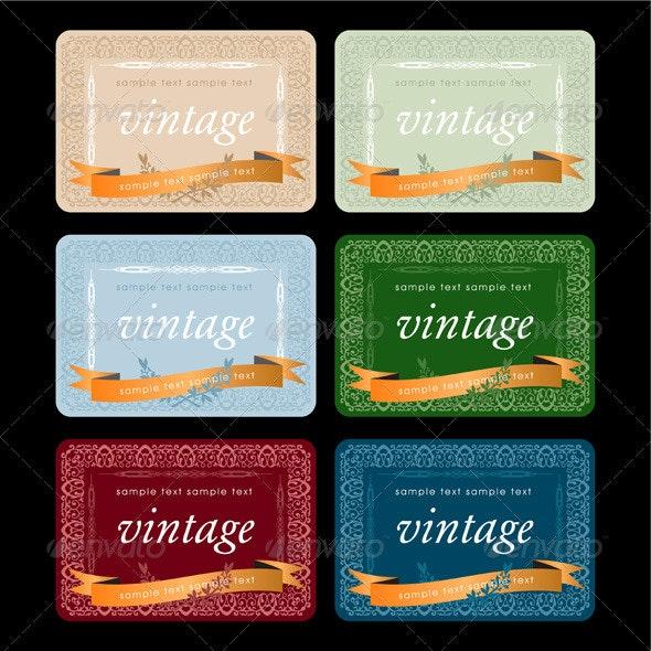Wiine Labels Design Set - Decorative Vectors