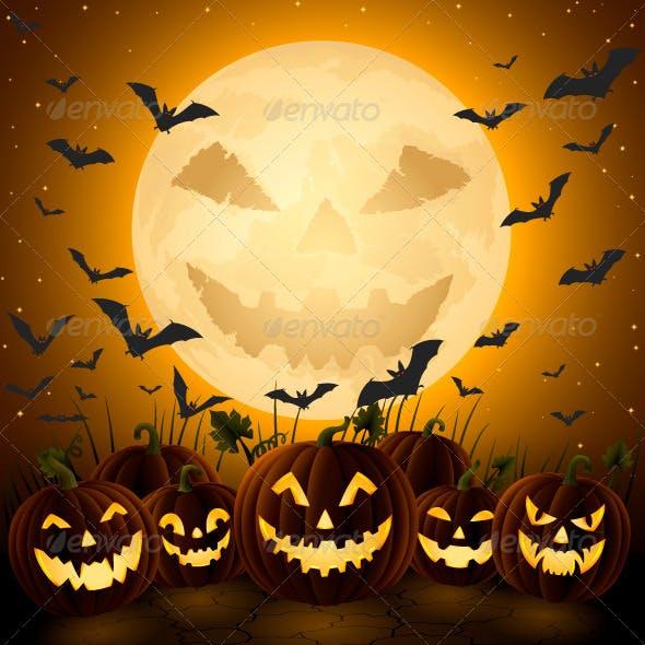 Spooky Halloween Night.
