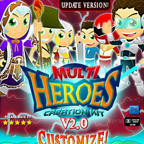 Multi Heroes Mascot Creation Kit Ver. 2.0