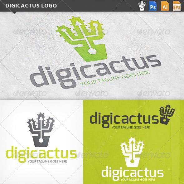 Digicactus Cactus Logo Template