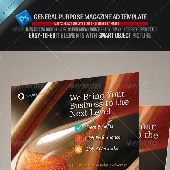 General Purpose Magazine Ad Template