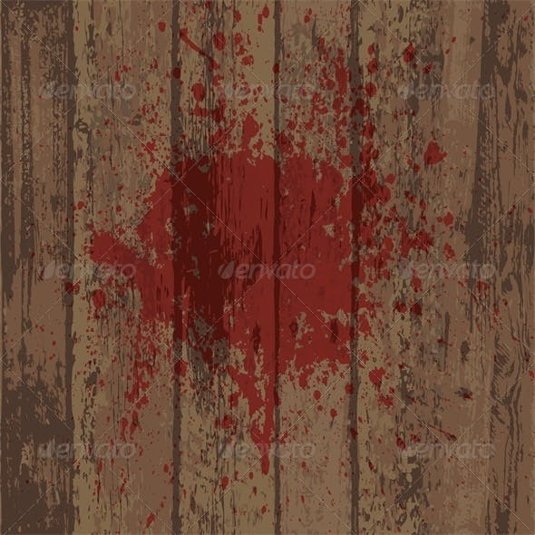 Wooden Wall or Floor with Blood Stain