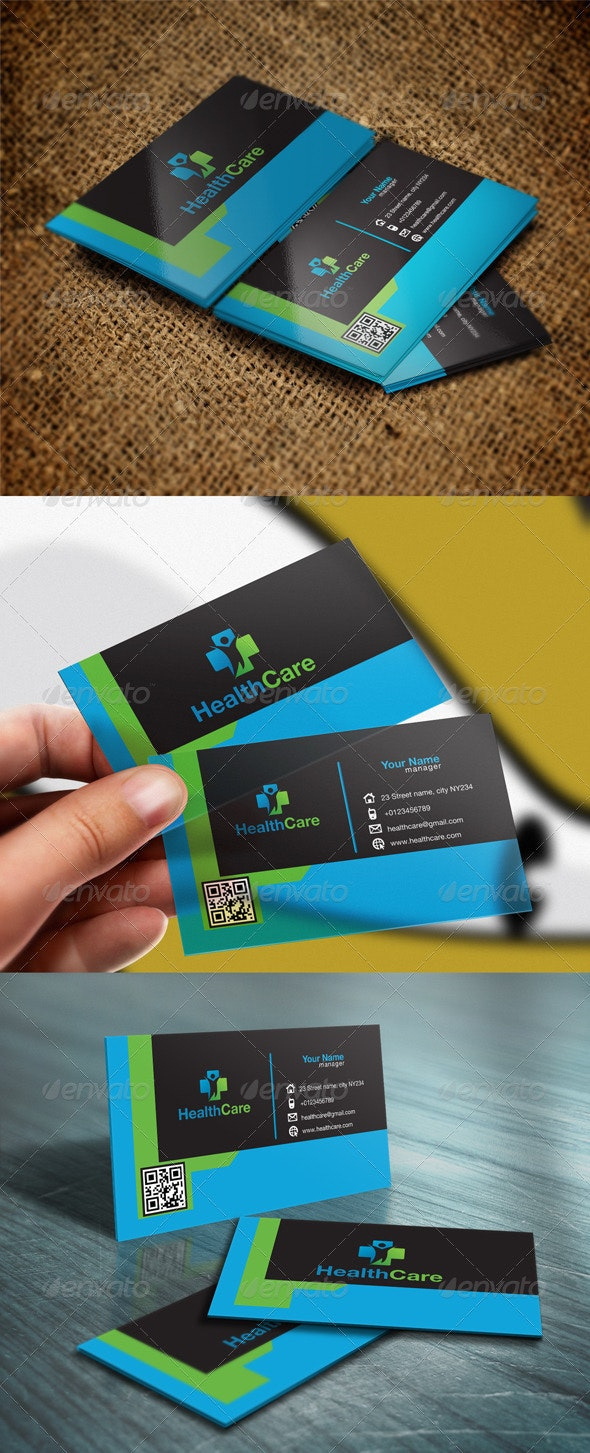 Health Clinic Business Card - Industry Specific Business Cards