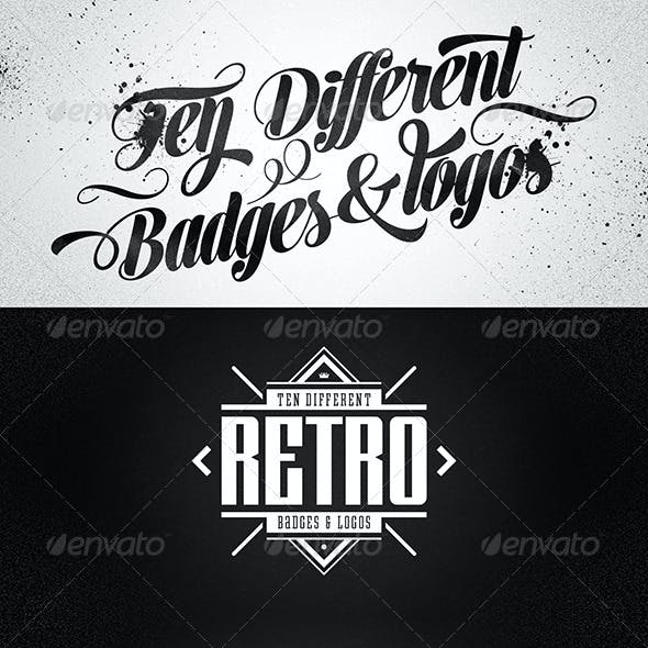 10 Retro Badges & Logos vol.2
