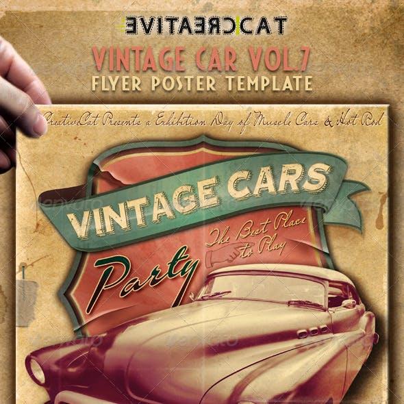 Vintage Car Flyer/Poster Vol. 7