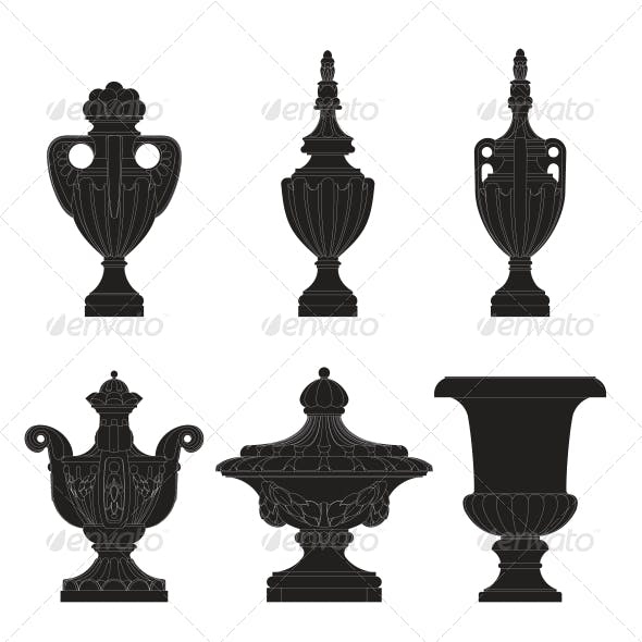 Set of Classic Urns, Planters