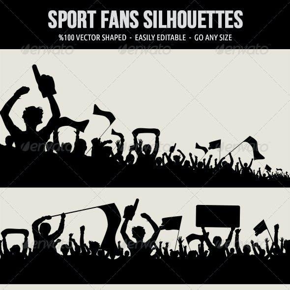 Sport Fans Silhouettes