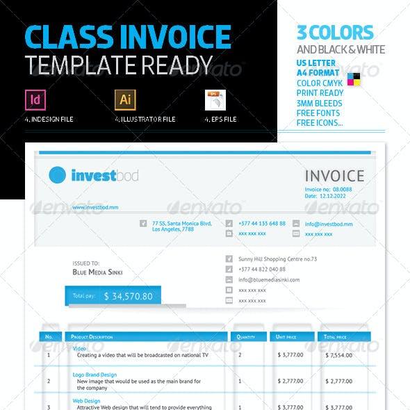 Class Invoice Template