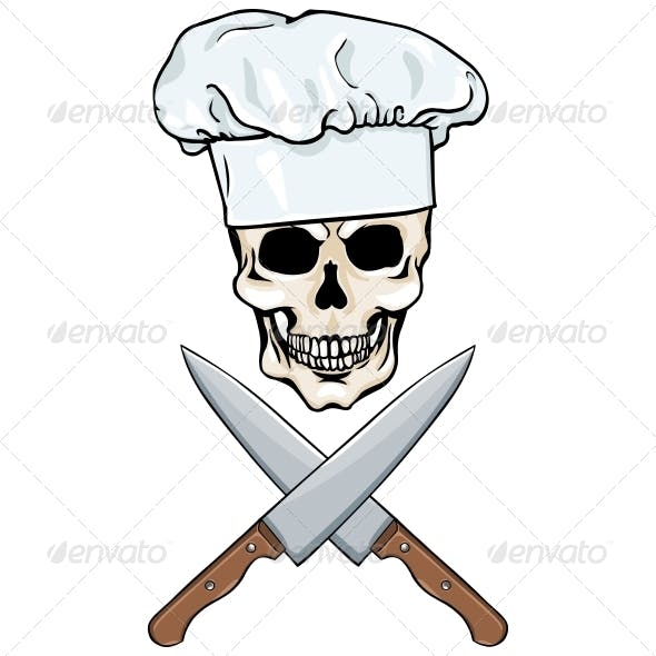 Skull Chef and Crossed Knives