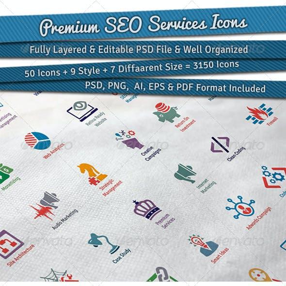 Premium SEO Services Icons
