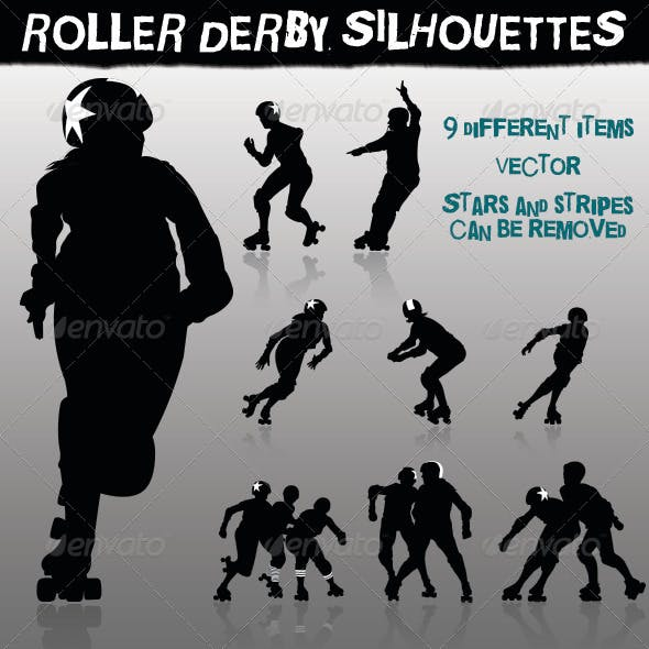 Roller Derby Silhouettes