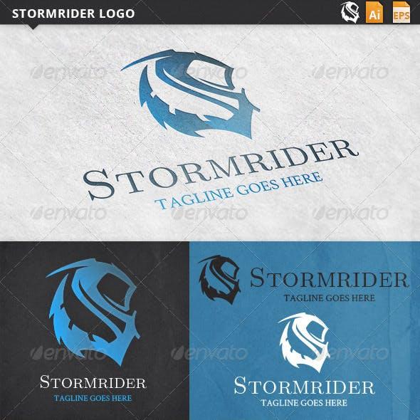 Stormrider Letter S Logo Template