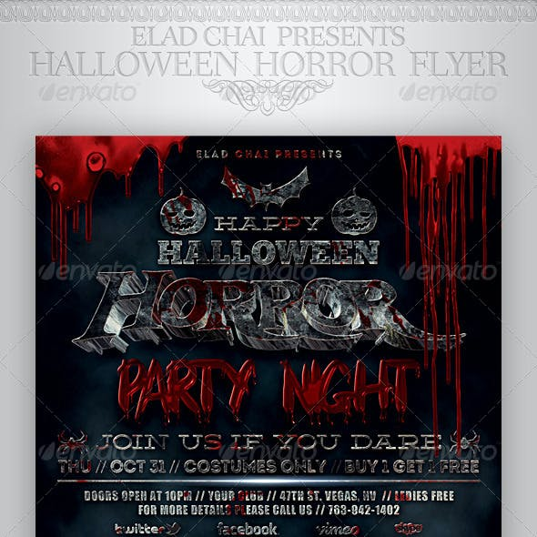 Halloween Horror Night Party Flyer Template